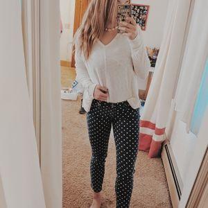 ANTHROPOLOGIE polka dot jeans 28
